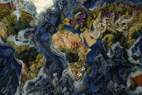 Artist Spends 520 Hours Reimagining World Map as a Giant 20-Foot-Wide Tapestry