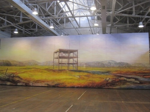 Japanese Artist Inspired by Tsunami Creates Large-Scale Watercolor Paintings of Desolation