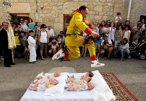 Look Inside Spain's Unusual Baby Jumping Festival