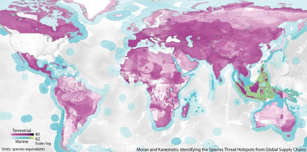 Maps Reveal How Global Consumption Hurts Wildlife