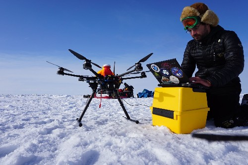 In the Empty Arctic, How to Get the Job Done? With a Drone.