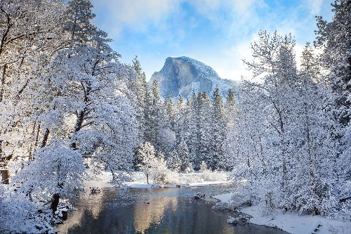 Brilliant photos of snow-covered U.S. national parks