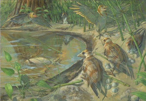 In a first, fossil bird found with unlaid egg