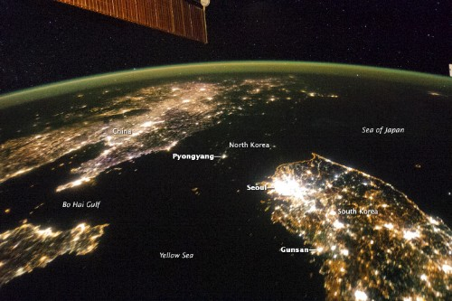 New Space Station Photos Show North Korea at Night, Cloaked in Darkness