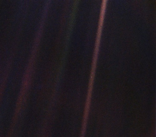 The first person to see the 'Pale Blue Dot' image still has it stashed in her closet