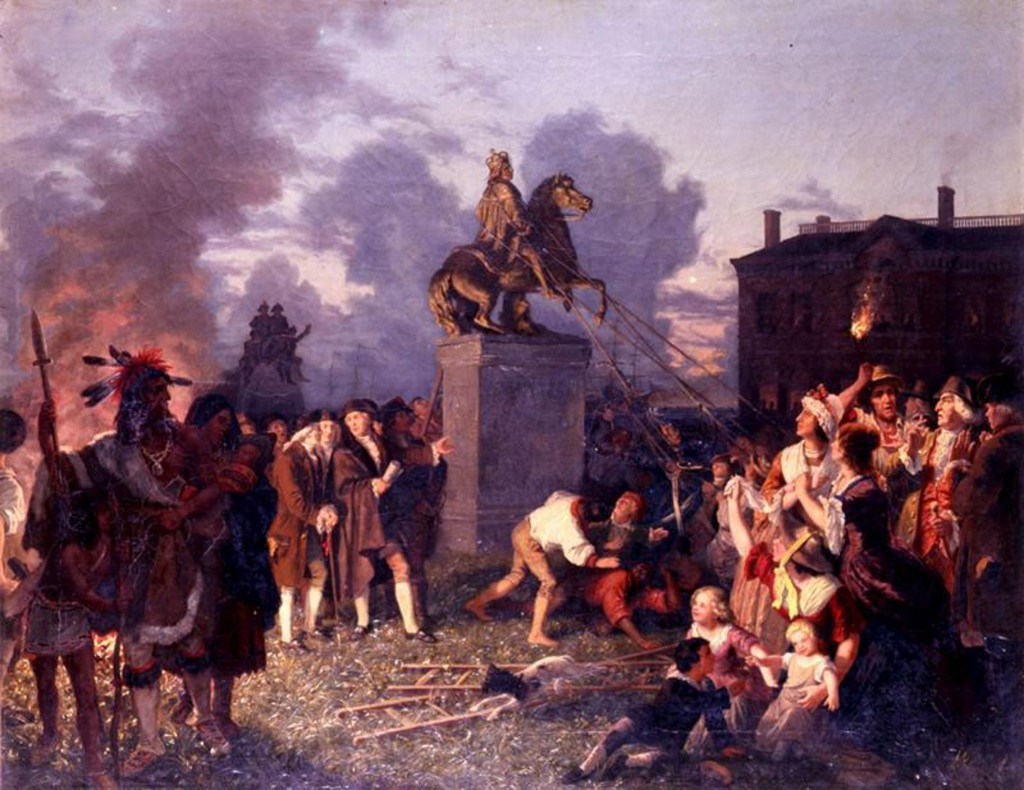 Pulling down statues? It's a tradition that dates back to U.S. independence