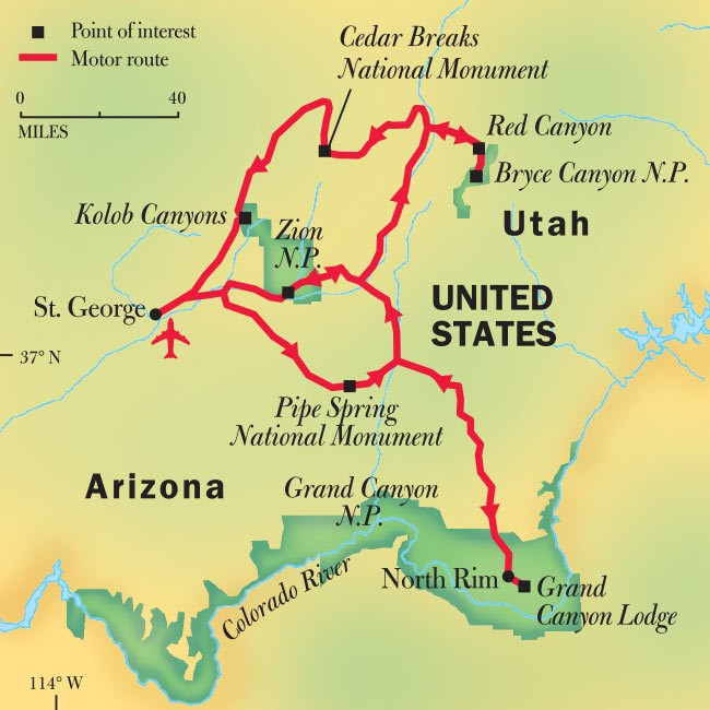 Grand Canyon, Bryce, & Zion National Park Tours