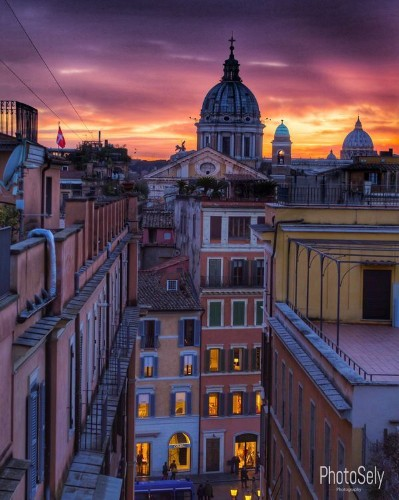 Rome Sunset Photo by Selcuk Yuecel — National Geographic Your Shot