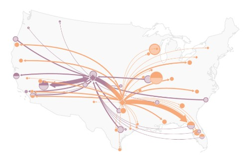 These maps show how tigers have been traded across the U.S.