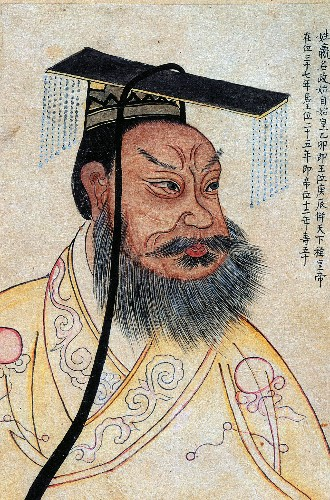 Who was the Chinese emperor behind the terra-cotta warriors?