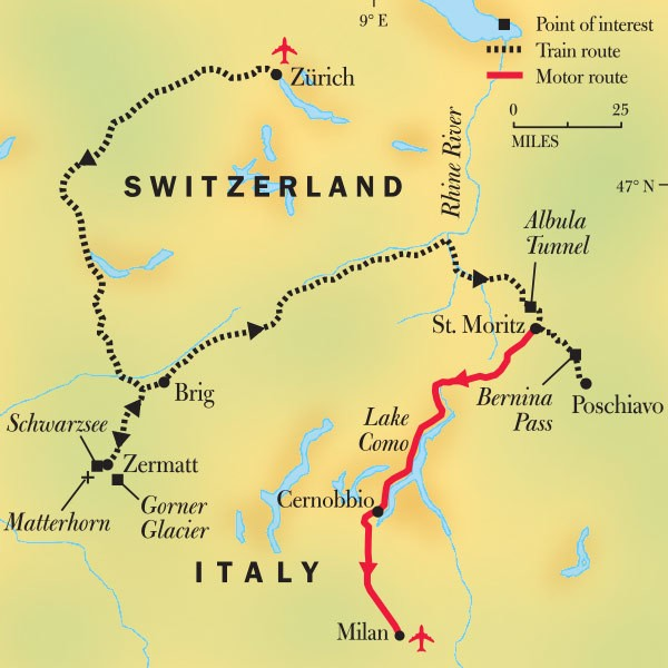 Swiss Alps Train Tours: From Switzerland To Italy