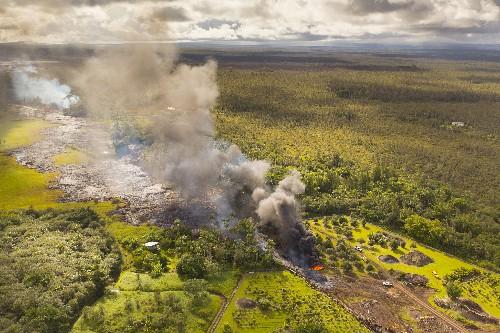 Hawaiian Lava Invading Village Homes, Spurring Evacuation
