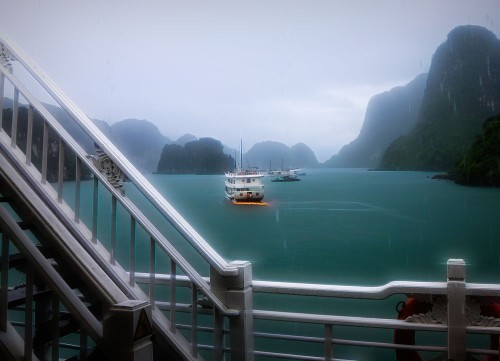 Ha Long Bay Rain Storm View Au Co Cruise Photo by Chuck Kuhn — National Geographic Your Shot