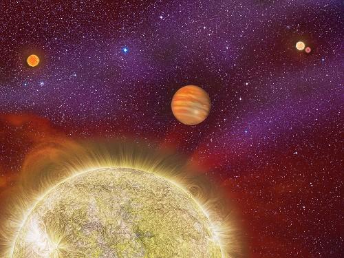 Faraway Planet Gains a Fourth Sun