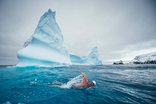 Adventurer Sets Record for Farthest South Swim on Earth