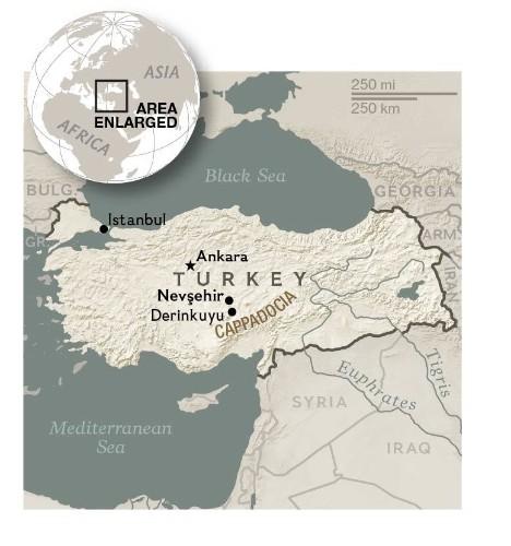 Massive Underground City Found in Cappadocia Region of Turkey