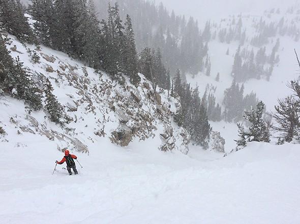 Skiing the Steep and Deep Spacewalk in Jackson Hole