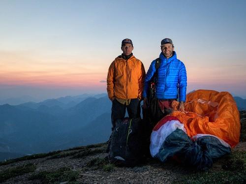 Paragliders Will Gadd and Gavin McClurg