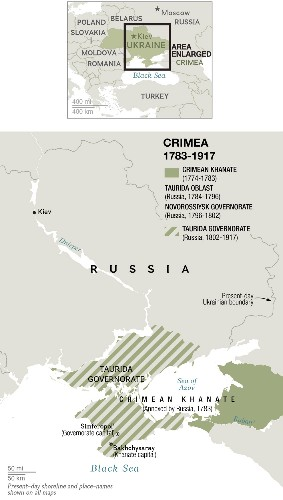 300 Years of Embattled Crimea History in 6 Maps