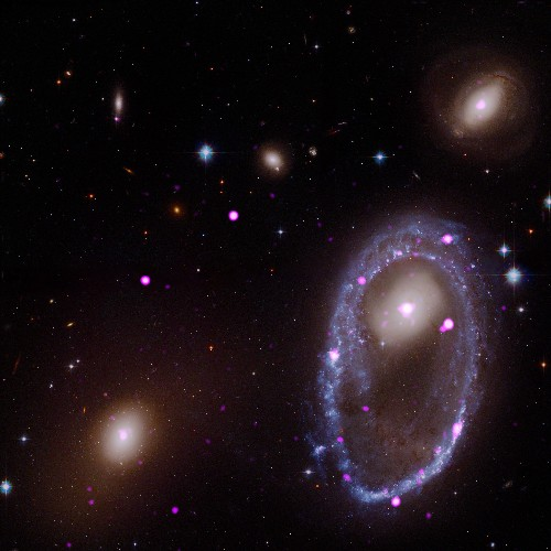 Two Spiral Galaxies Collided. NASA Captured the Result.