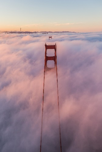 Behind the Picture: Fly Through Clouds and Fog in San Francisco