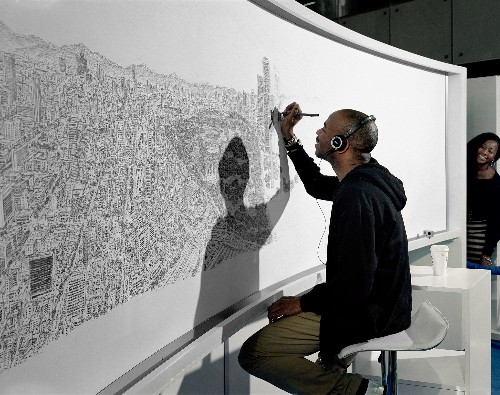 See This Incredible Artist Draw a Whole City From Memory
