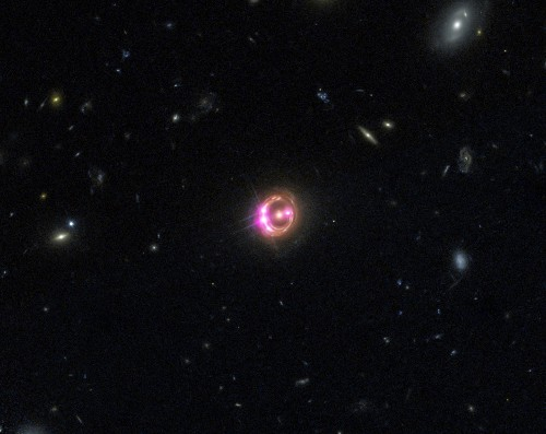 Jumbo Black Hole's Dizzying Spin Twists Space