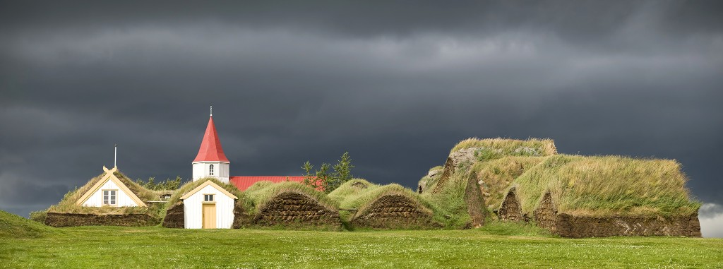 Iceland's turf houses merge beautifully with nature