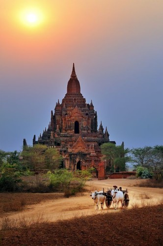 Old Bagan at dusk Photo by Ly Hoang Long — National Geographic Your Shot