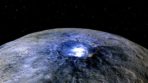 Dawn Finds Evidence for Salty Spots, Morning Mist on Ceres