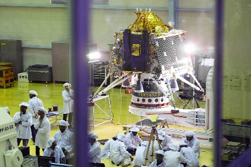 India's historic moon mission launches toward lunar south pole