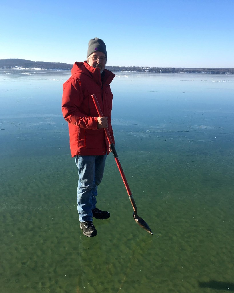Rare Optical Illusion Lets a Man 'Walk on Water'
