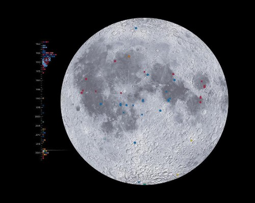 Explore 50 years of lunar visits with our newest moon map