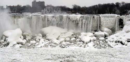 Are Frozen Views of Niagara Falls Unusual?