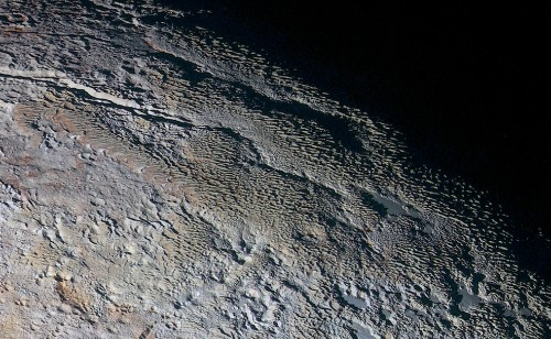 Pluto's Colorful, Scaly Terrain Revealed in Detailed Closeups