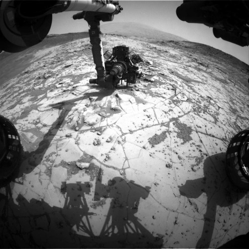Week's Best Space Pictures: Curiosity Drills, a Rocket Soars, and Dragon Docks
