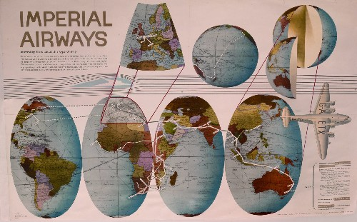 Vintage Maps Rekindle the Romance of Early Air Travel