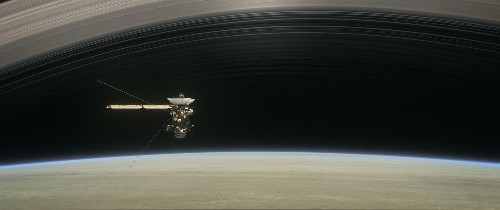 Rain falls from Saturn's rings—and a dying spacecraft tasted it