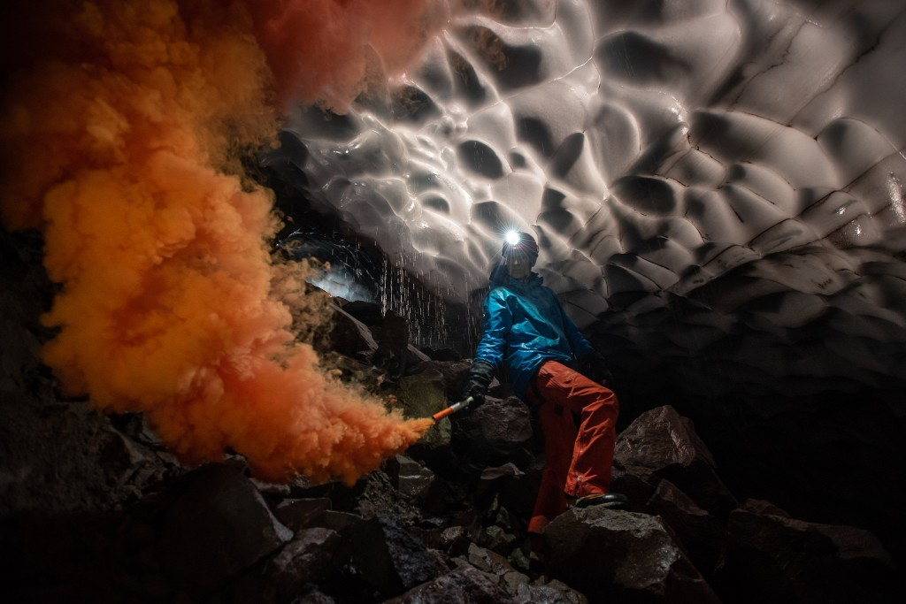 See the eerie glacier caves carved by Mount St. Helens's fiery breath
