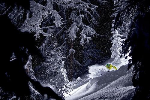 Magical Ski Runs Under the Night Sky