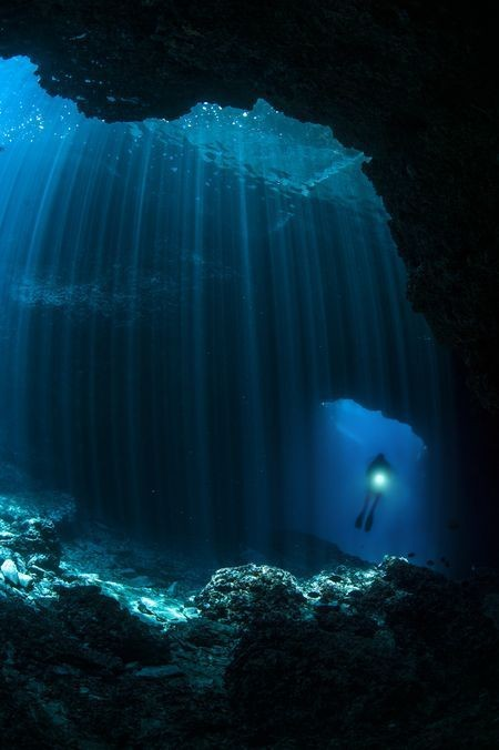 CAVE DIVING Photo by Marjan Radovic — National Geographic Your Shot
