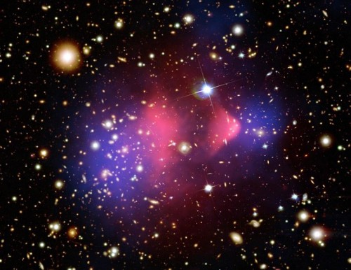 """Astronomers Spy """"Bullet"""" Galaxy Blasting Through Other Galaxies"""