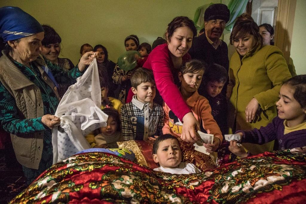 Inside an elaborate circumcision ceremony