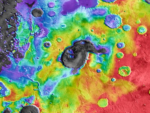 Supervolcanoes Rocked Early Mars