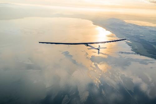"""Solar Plane Set for 5-day """"Earhart Leg"""" of Epic Flight"""
