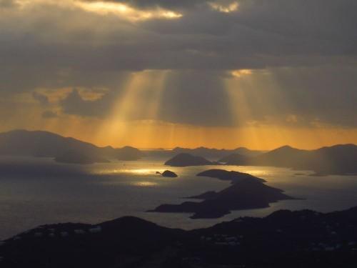Sunrise over Magens Bay