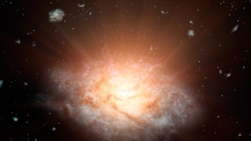 Brightest Galaxy Yet Shines With Light of 300 Trillion Suns