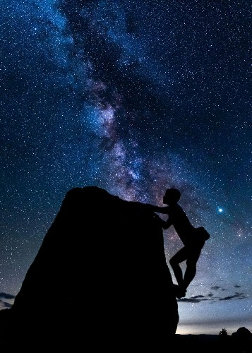 Climber with the Milky Way Photo by Sabreen Lakhani — National Geographic Your Shot
