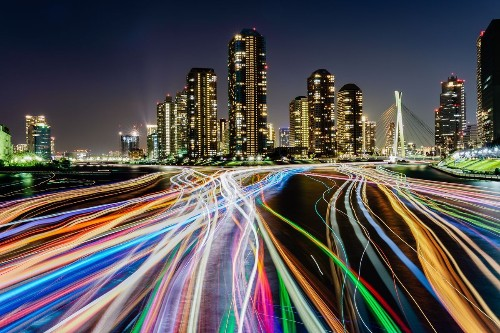 Colorful Ship traces Photo by Junko Torikai — National Geographic Your Shot