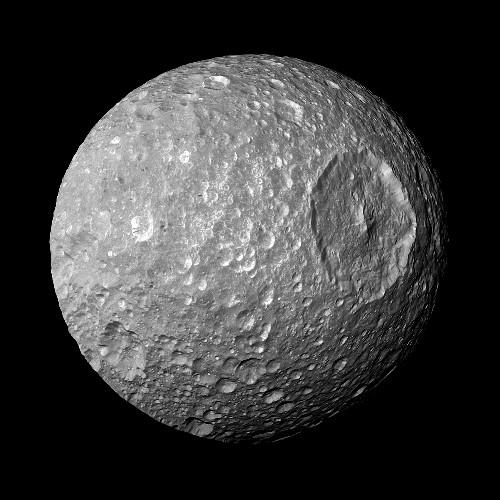 'Death Star' Moon May Hide a Buried Ocean